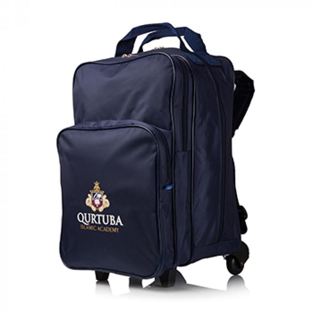 Senior Trolley Bag Double Zip With Handles